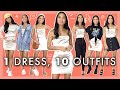 10 WAYS TO STYLE 1 DRESS