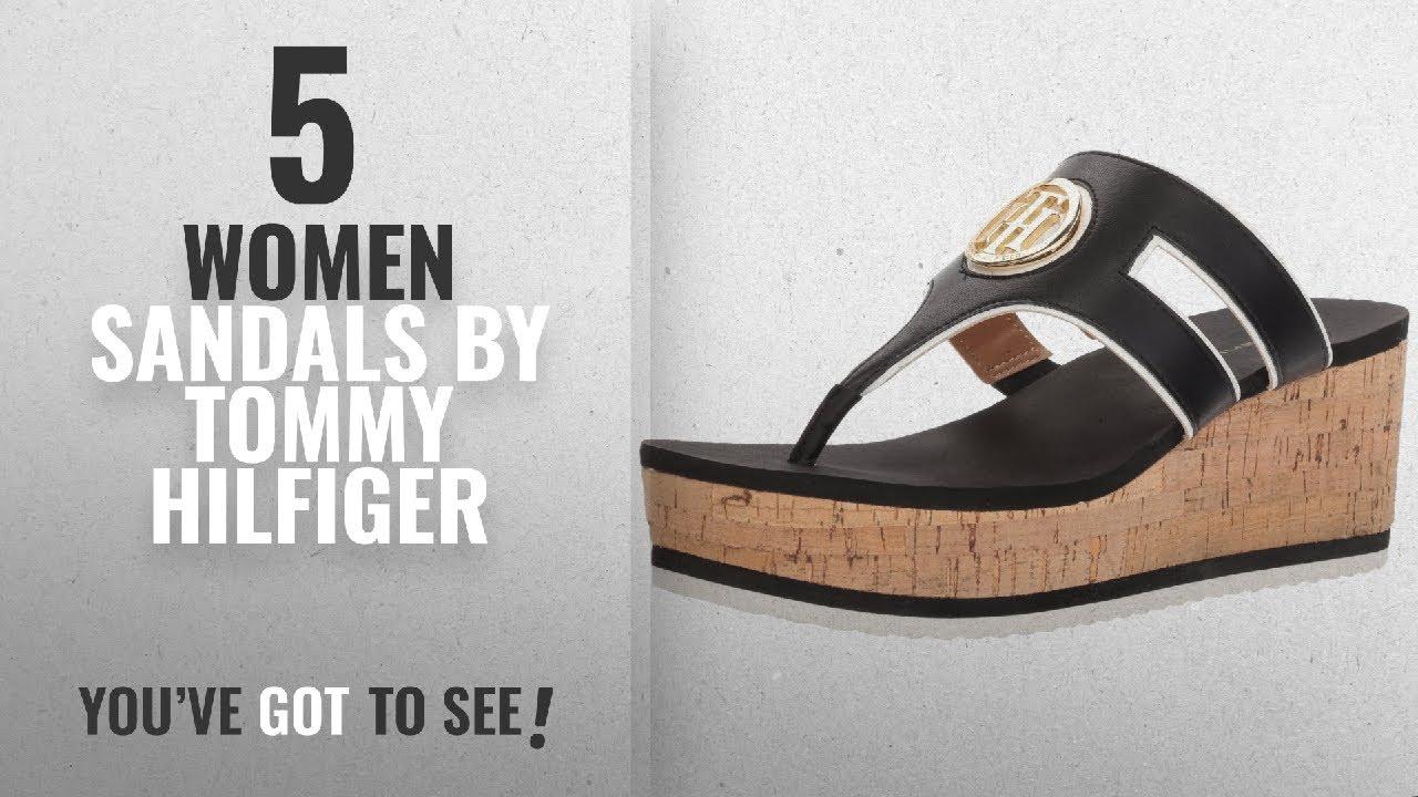 6955c5636e88 Top 5 Tommy Hilfiger Women Sandals  2018   Tommy Hilfiger Women s Galley  Wedge Sandal