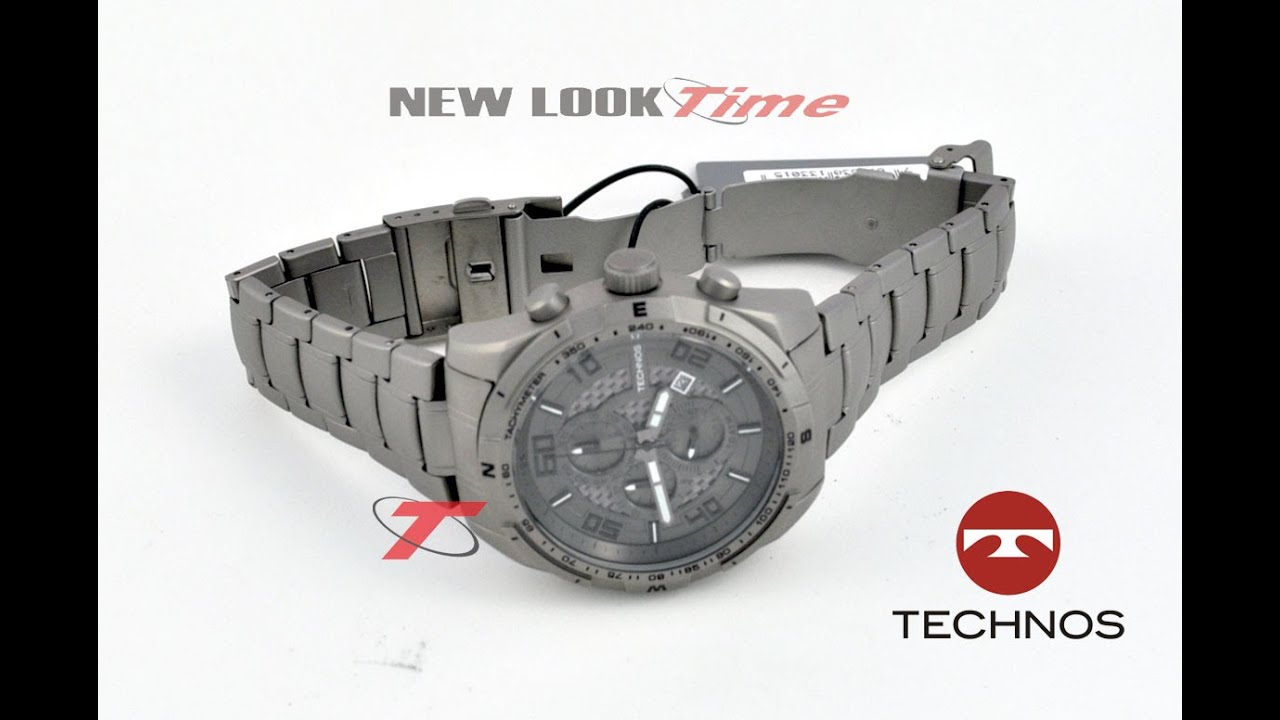Relógio masculino Technos Titanium OS1AAD 1C - New Look Time - YouTube 0989bccd5a