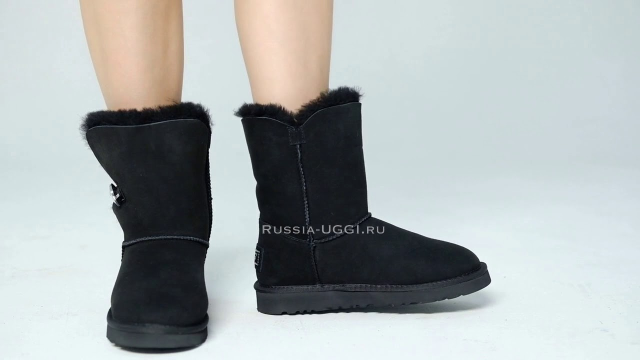 db35a6aa935 UGG Bailey Button Bling Black