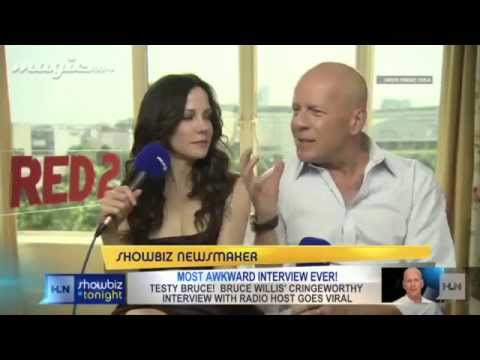 Bruce Willis' awkward interview