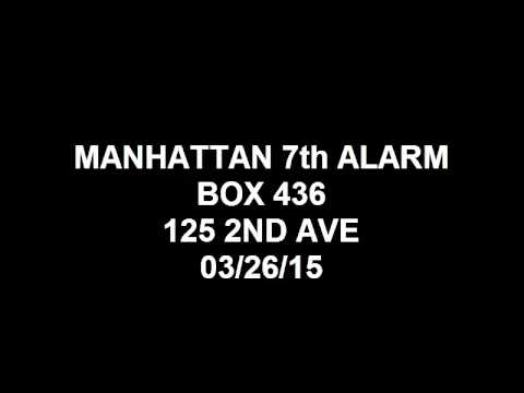 FDNY Radio: Manhattan 10-60 7th Alarm Box 436 03/26/15