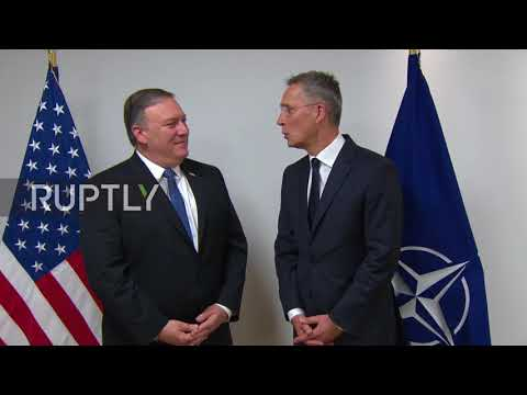 Belgium: Pompeo welcomed in Brussels ahead of NATO meeting