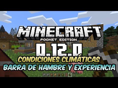 Noticias Minecraft PE 0.12.0 | Climas, Barra de Hambre y Experiencia | Minecon 2015