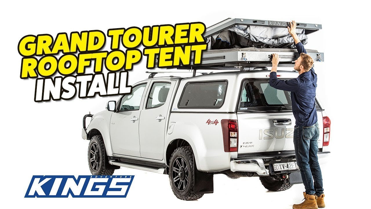 Adventure Kings Roof Top Tent Installation adventure kings grand tourer rooftop tent install