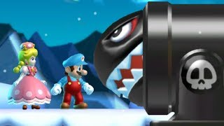 New Super Mario Bros U Deluxe Co-Op Walkthrough - World 4 (2 Player)
