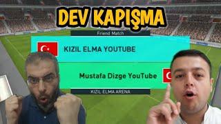 KIZIL ELMA VS MUSTAFA DİZGE | DEV KAPIŞMA GOL DÜELLOSU! - PES 2018 MOBİLE