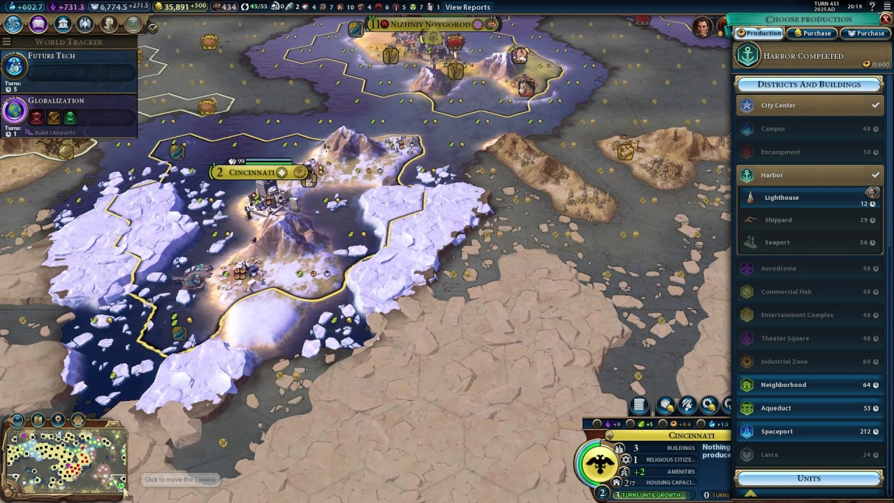 Civilization VI - Tutorial - Harbor district