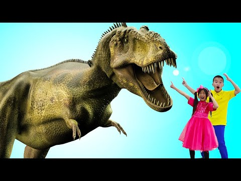 Emma & Andrew Learn About Dinosaurs | Education Video for Kids