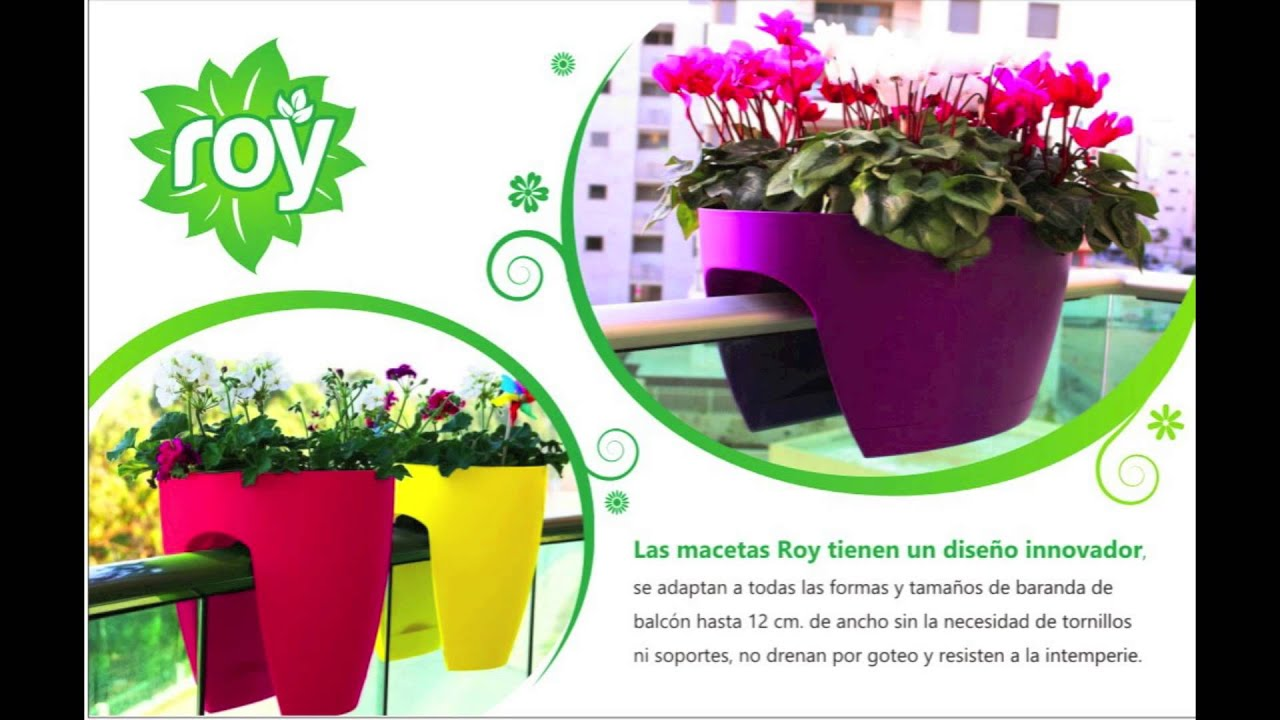 Maceta para balcones youtube for Jardineras para balcones