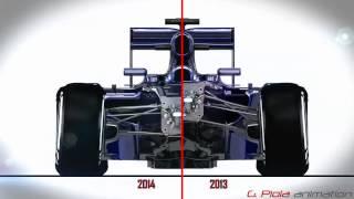 Formula 1 // 2014 vs 2013 // Giorgio Piola