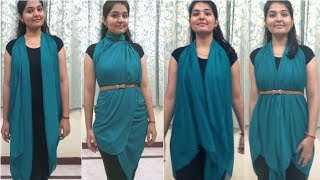 DIY No Sew| Wear Scarf/ Dupatta in Different ways | Quick & Easy way