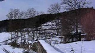 Auvergne Bed and breakfast l'horizon vert  at Sembadel Bonnefond in wintertime
