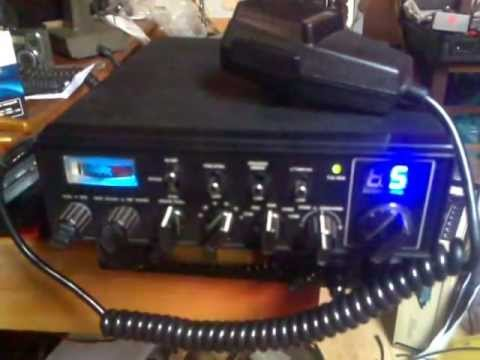 test CB radio lafayette typhoon II tuned bleep hy gain V