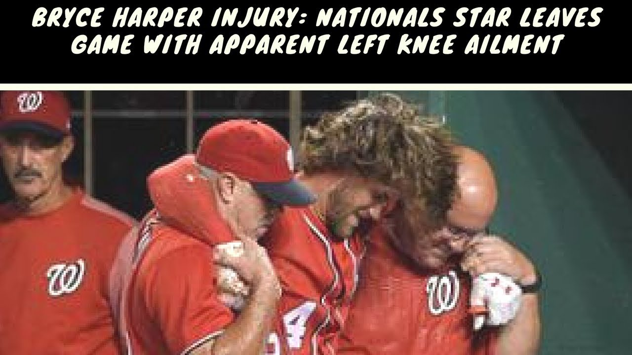 Bryce Harper leaves Nationals game with apparent left knee injury