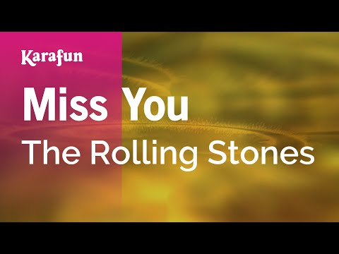 Karaoke Miss You - The Rolling Stones *