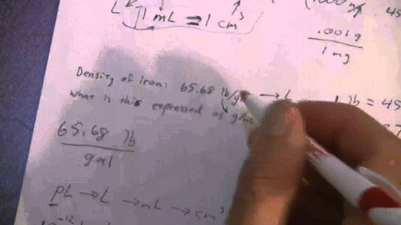 Multi Step Conversions 4 Of 4 Lbgal To Gml Youtube