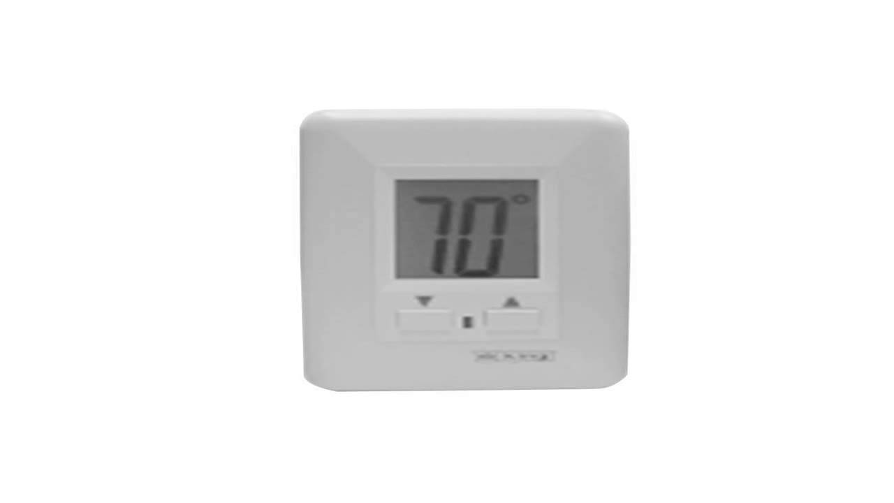 King BKT2BW Double Pole Single Throw Built In Thermostat Kit White ...