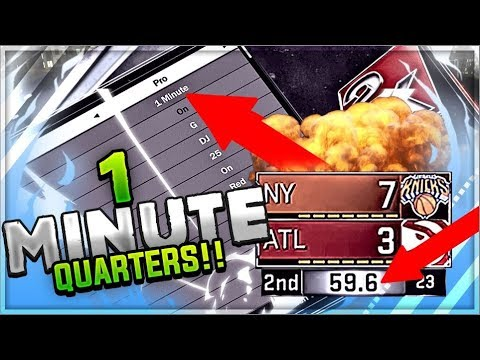 NBA 2K18: HOW TO CHANGE QUARTER LENGTH TO 1 MINUTE! EASIEST BADGE GRIND