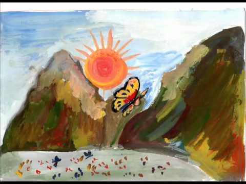 Смотреть разноцветная бабочка мультфильм