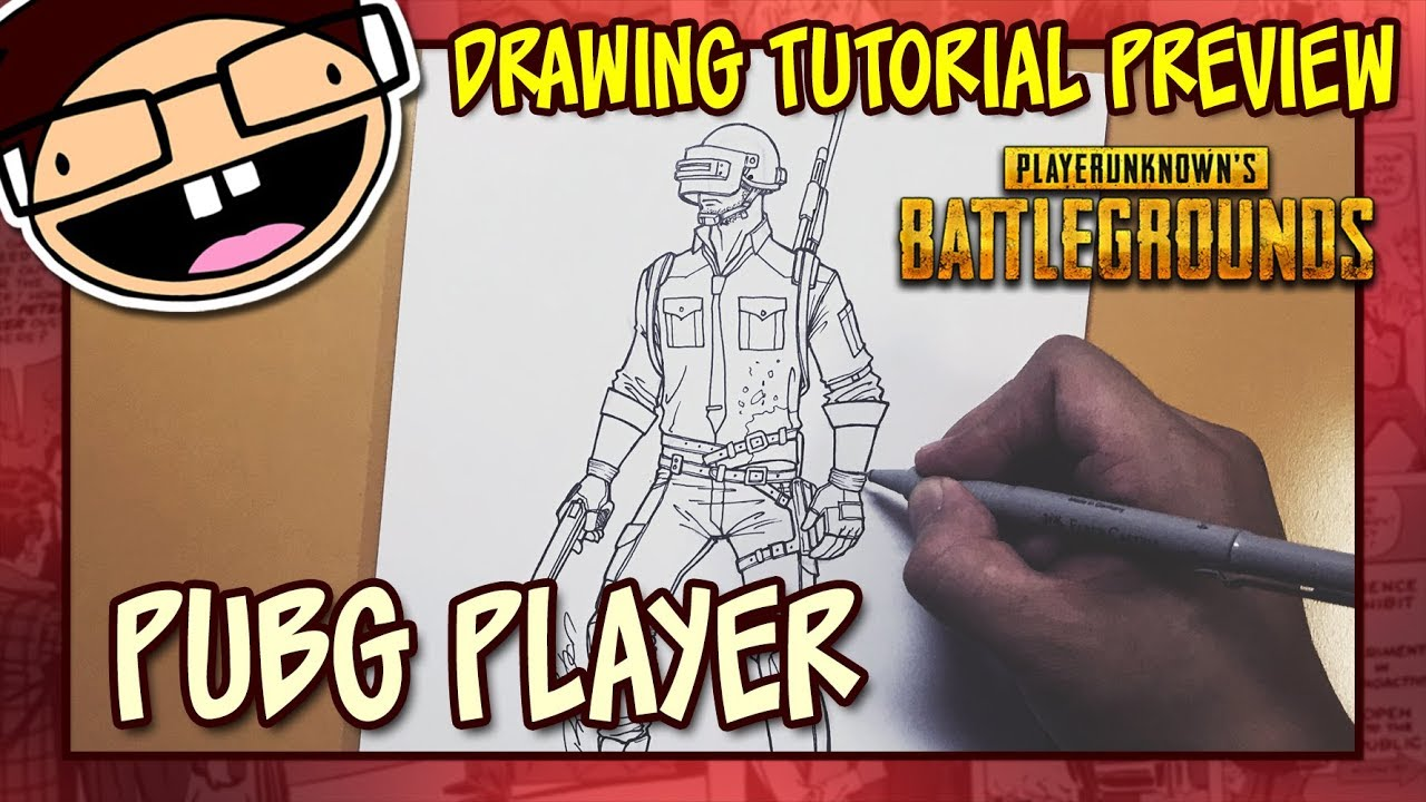 Playerunknown S Battlegrounds Cartoon: [PREVIEW] How To Draw The PUBG Cover Art Character