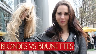 blonde vs brunnette