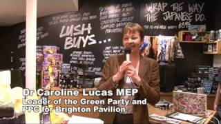 Caroline Lucas - Leader of the Green Party talks in our Brighton Shop