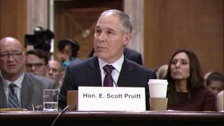 Merkley Questions EPA Pick Scott Pruitt