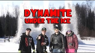 2KG DYNAMITE UNDER THE ICE!! What happens?