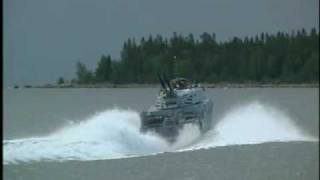 Swedish Navy shooting with AMOS from Combat Boat 90H