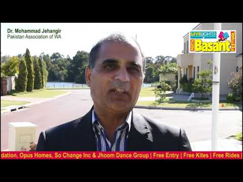 Live Lighter Perth Basant Festival - Mohammad Jehangir, President of Pakistan Association of WA