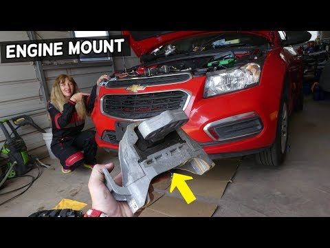 CHEVROLET CRUZE PASSENGER SIDE ENGINE MOUNT REPLACEMENT. CHEVY SONIC ENGINE MOUNT REPLACEMENT