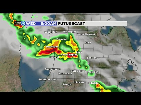 Storms move in to West Michigan overnight