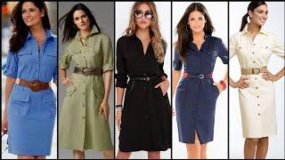 Beautiful Stylish And Outstanding Shirt Dress/Skater Dress Design For Stylish Girls