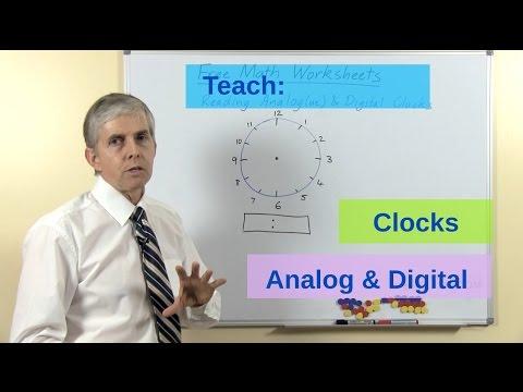 Teaching Children To Read Analog And Digital Clocks