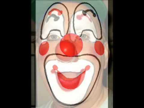 B Good Design a Clown Face Makeup Hair Smile Draw Create Fun Heh
