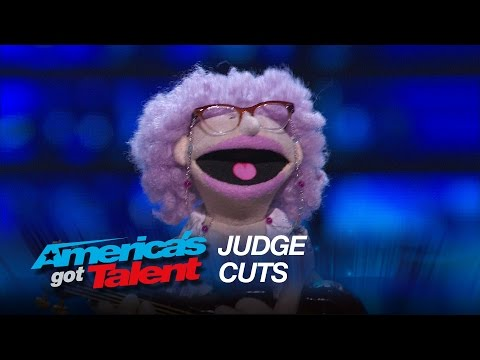 """Ira: Puppet Serenades Mel B With """"Let's Get It On"""" By Marvin Gaye - America's Got Talent 2015"""