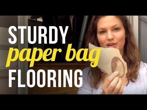DIY Renovations - Brown Paper Bag Flooring