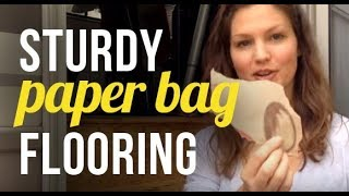 RV Living - Brown Paper Bag Flooring Renovation