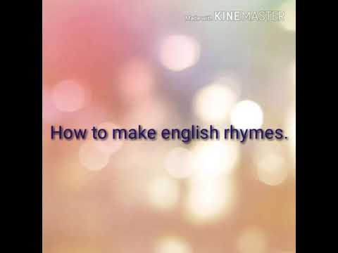 How to make  Rhymes chart.
