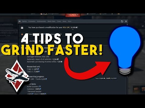 4 Tips To Grind Faster In War Thunder - Get More RP!