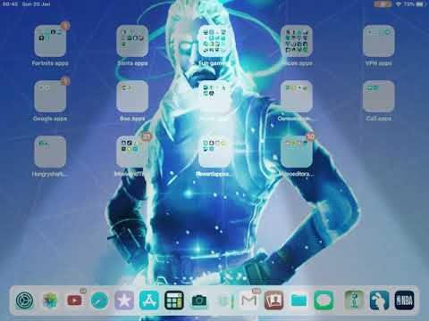 How To Get A Fortnite Wallpaper Into Your Ipad Iphone Ipod Youtube
