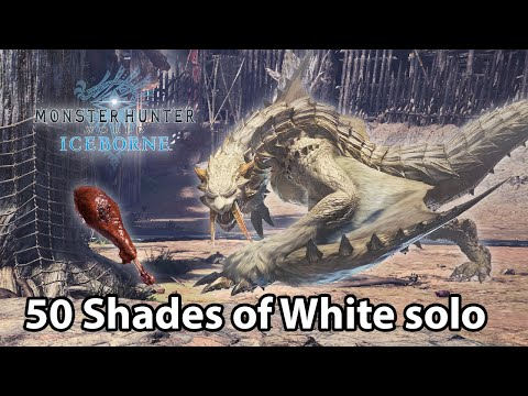 MHW Iceborne | Barioth Vs Juicy Well-done Hammer Solo (TA Rules) - 4'37 | 50 Shades Of White