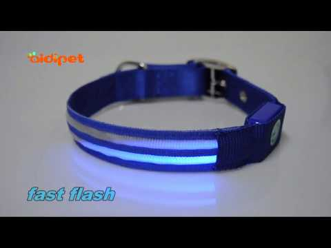 AIDIPET Dul line Optical Luminous LED Dog Collar