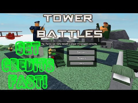 Best way to get credits l Roblox Tower Battles
