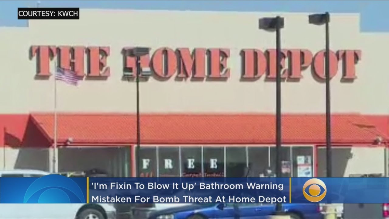 'I'm Fixin To Blow It Up': Bathroom Warning Mistaken For Bomb Threat At Home Depot