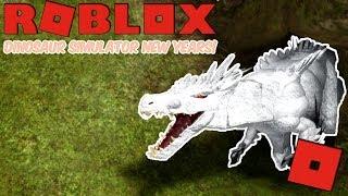 Roblox Dinosaur Simulator New Years - The White Beast Of New Years! (Albino Terror 2019 Gameplay!)