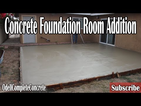 How to Build, Setup and Pour a Room Addition Foundation
