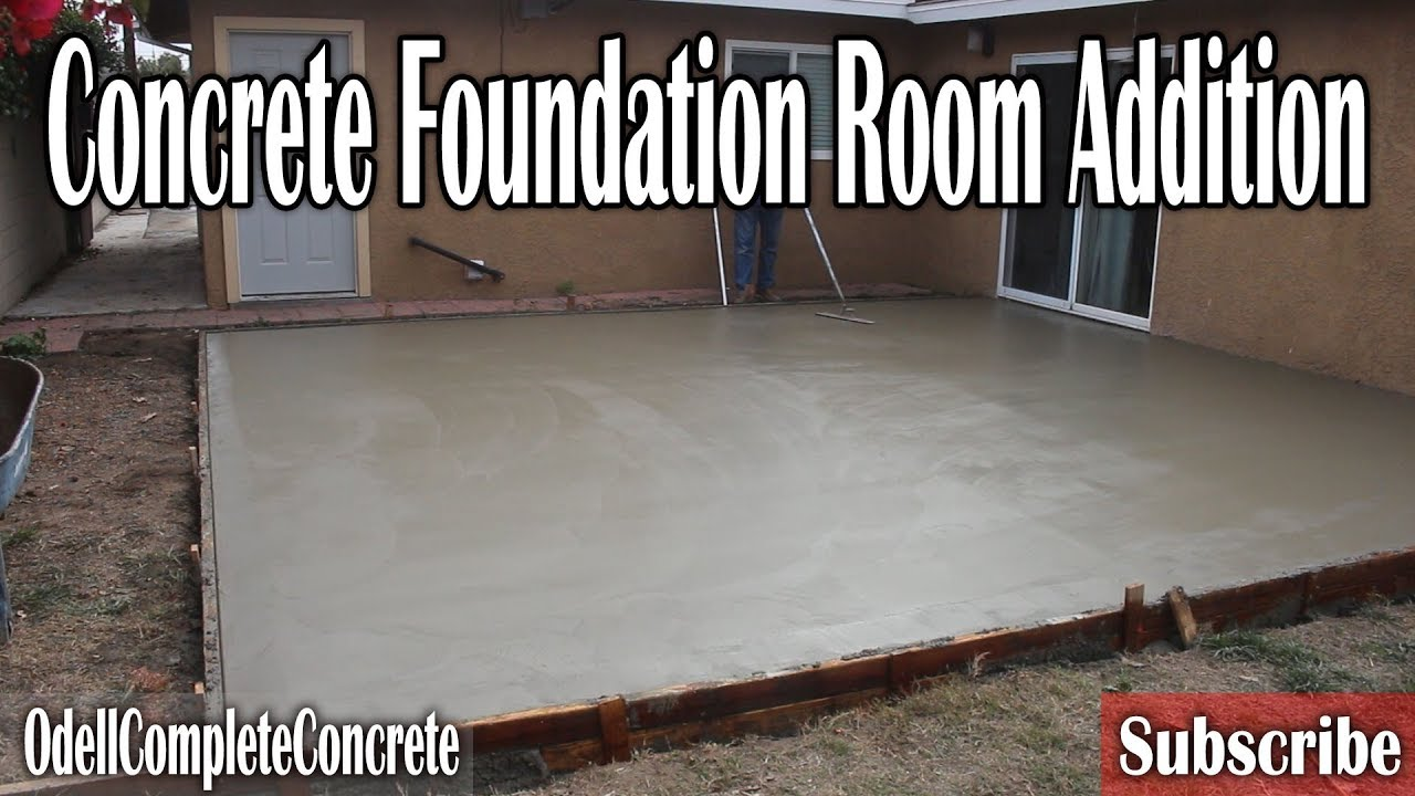 How To Build Setup And Pour A Room Addition Foundation