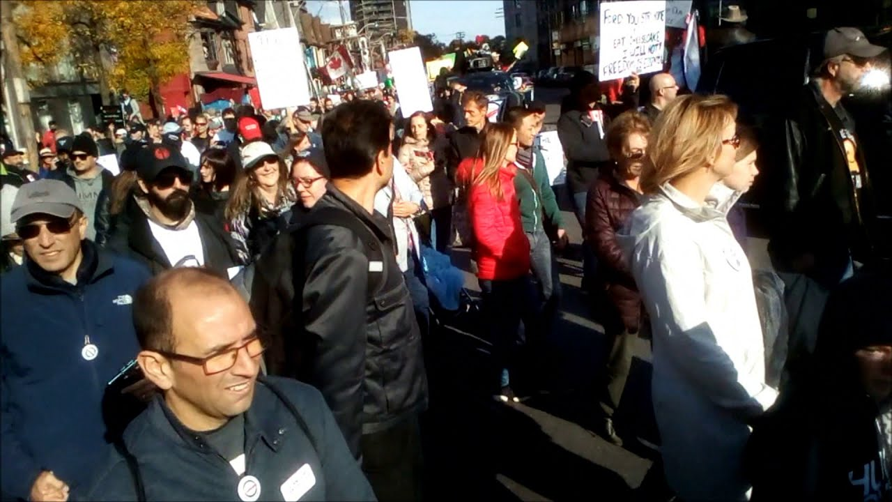 Toronto Freedom Protest and Motorcade Oct 17, 2020 | Dundas Square to Bloor St West